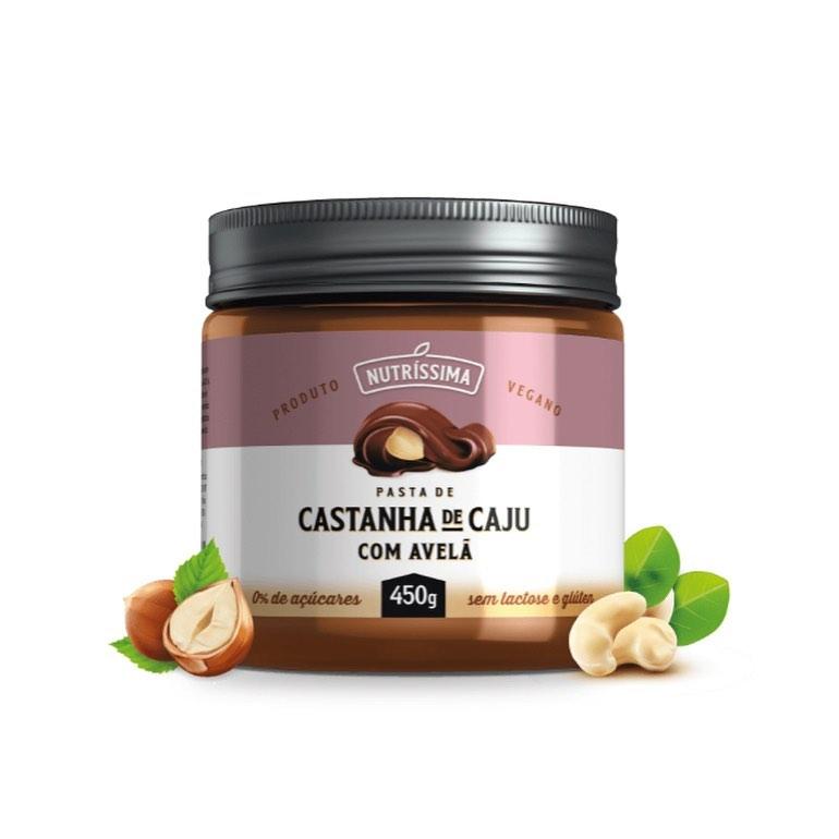 CREME DE CASTANHA DE CAJU COM AVELÃ 450G - NUTRISSIMA