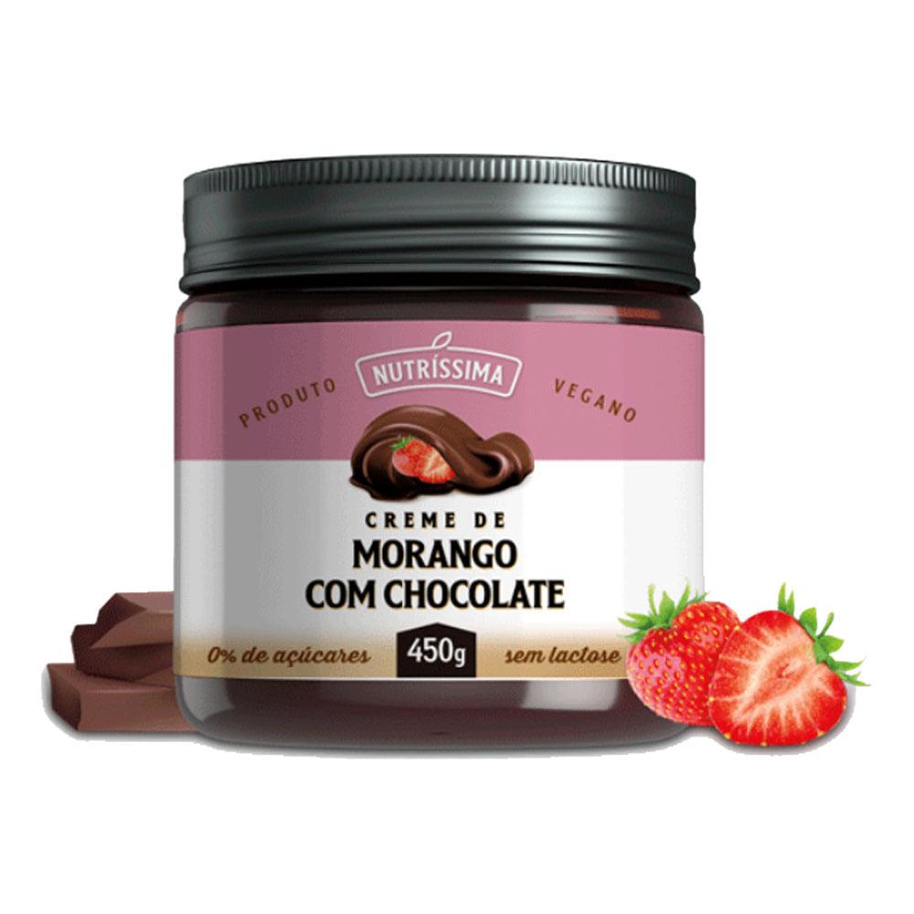 CREME DE MORANGO COM CHOCOLATE 450G - NUTRISSIMA