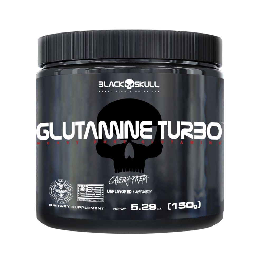 GLUTAMINE TURBO 150g – Black Skull