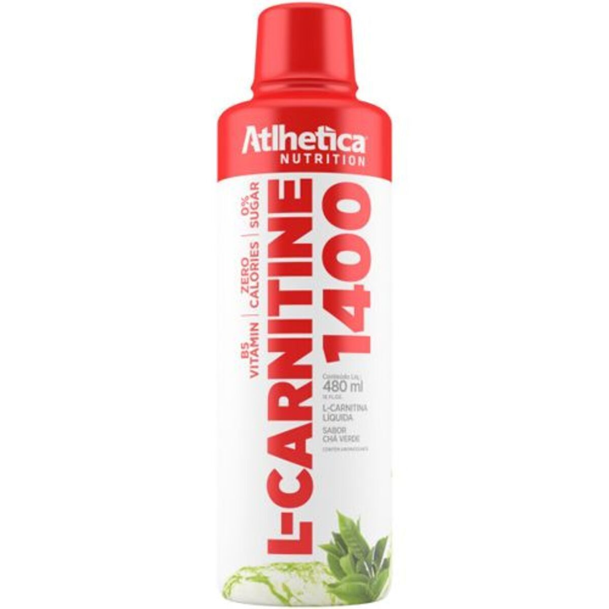 L CARNITINE 1400 CHA VERDE 480ML - Atlhetica