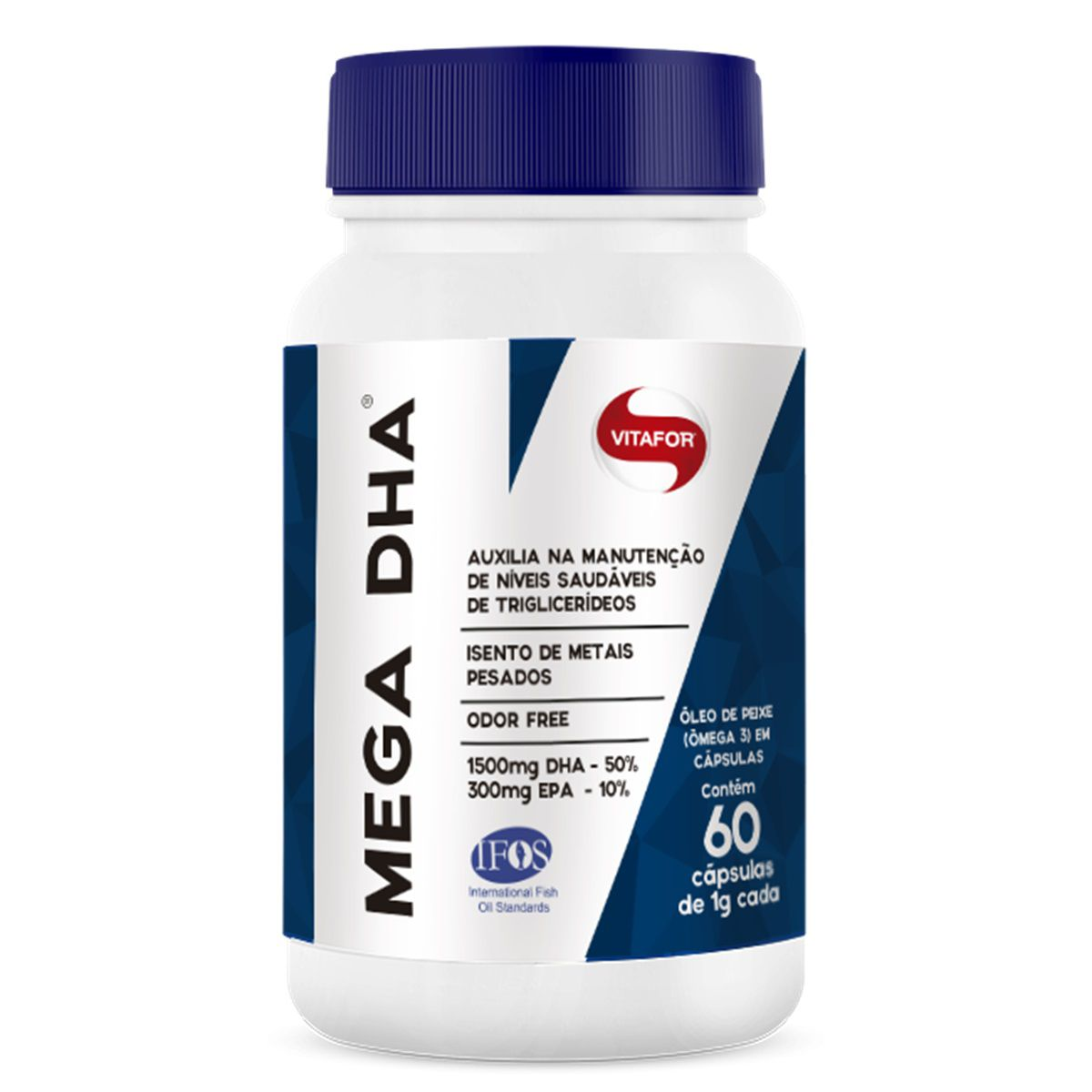 MEGA DHA 1g 60 cápsulas – Vitafor