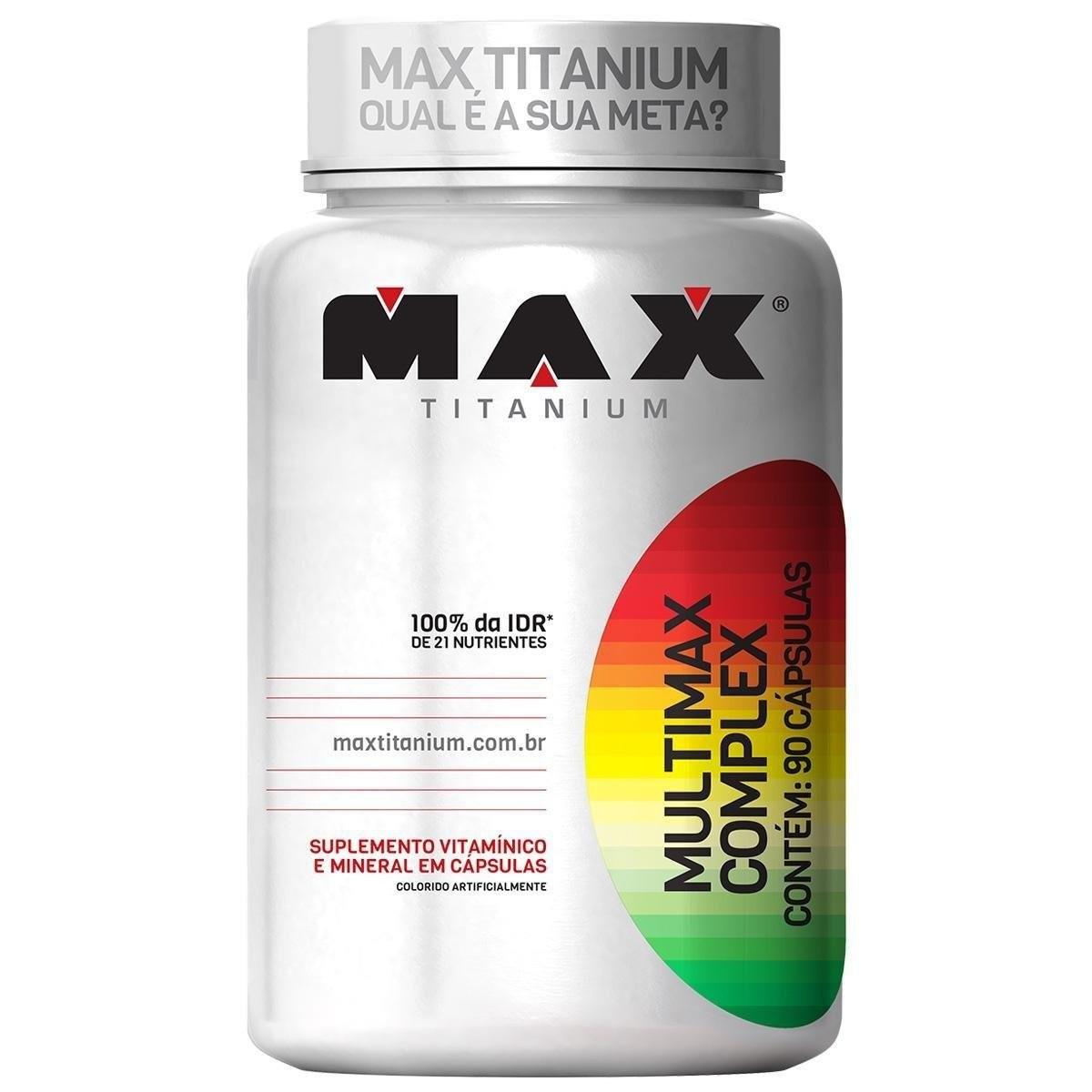 MULTIMAX COMPLEX 90 CÁPSULAS – Max Titanium