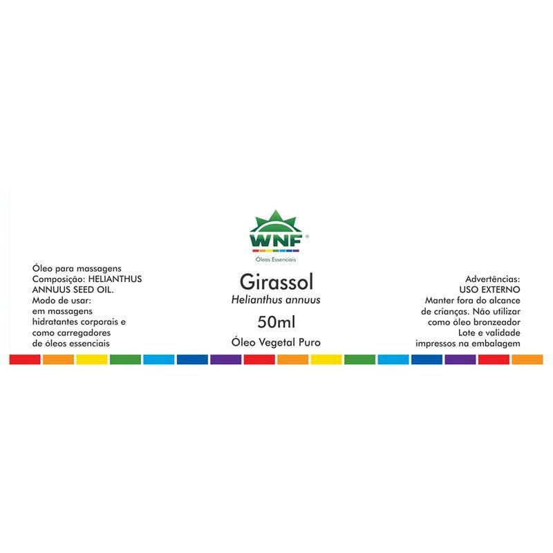 ÓLEO VEGETAL DE GIRASSOL 50mL - WNF