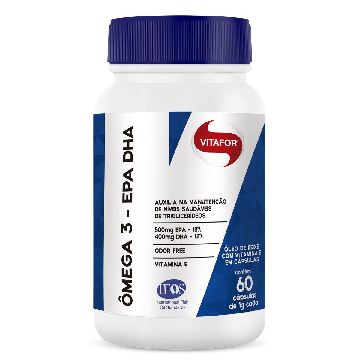 ÔMEGA 3 EPA-DHA 1g 60 cápsulas – Vitafor