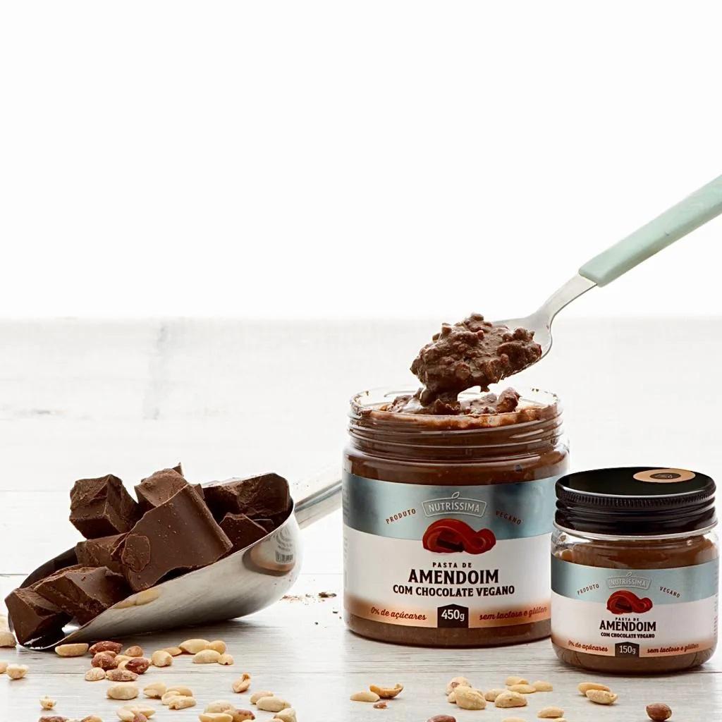 PASTA DE AMENDOIM CHOCOLATE VEGANO 450G - NUTRISSIMA