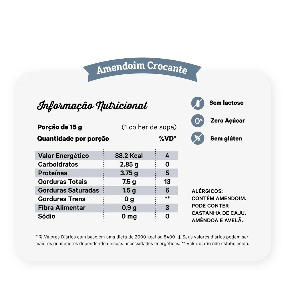 PASTA DE AMENDOIM CROCANTE 1,01KG - NUTRISSIMA