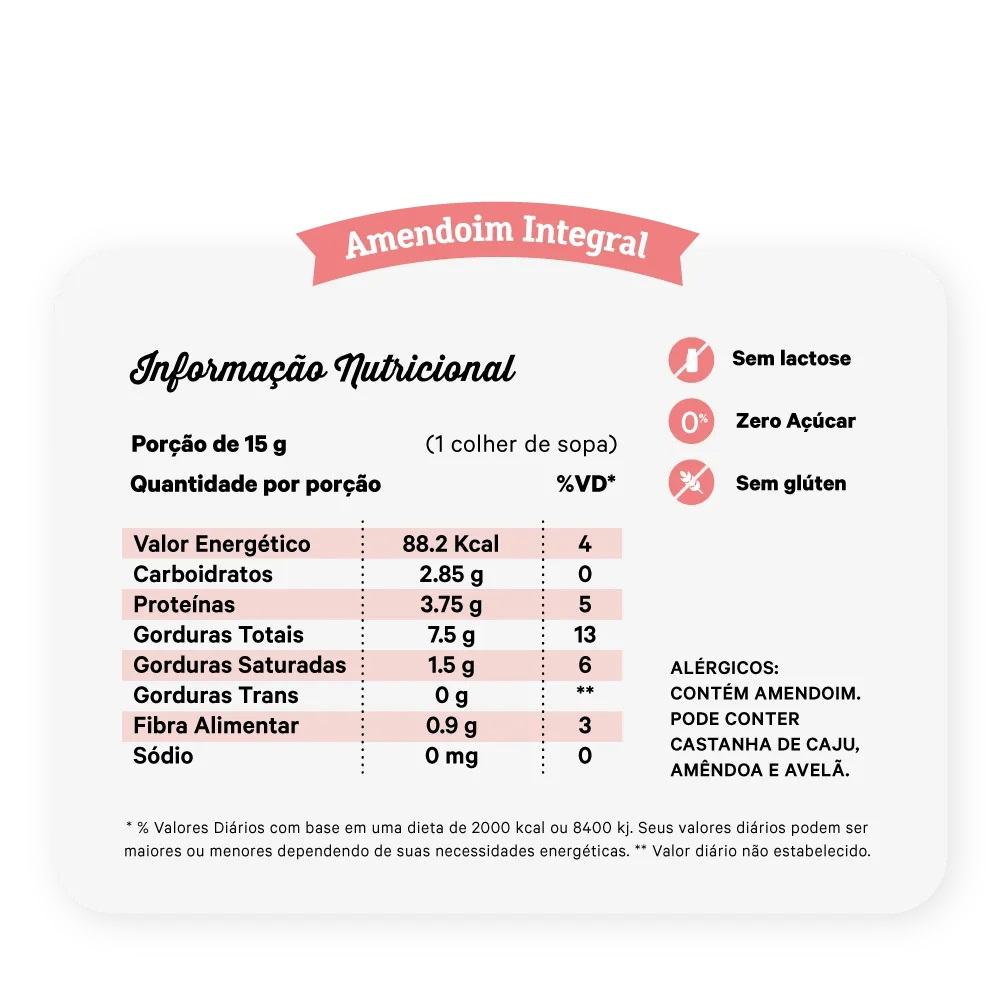 PASTA DE AMENDOIM INTEGRAL 450G - NUTRISSIMA