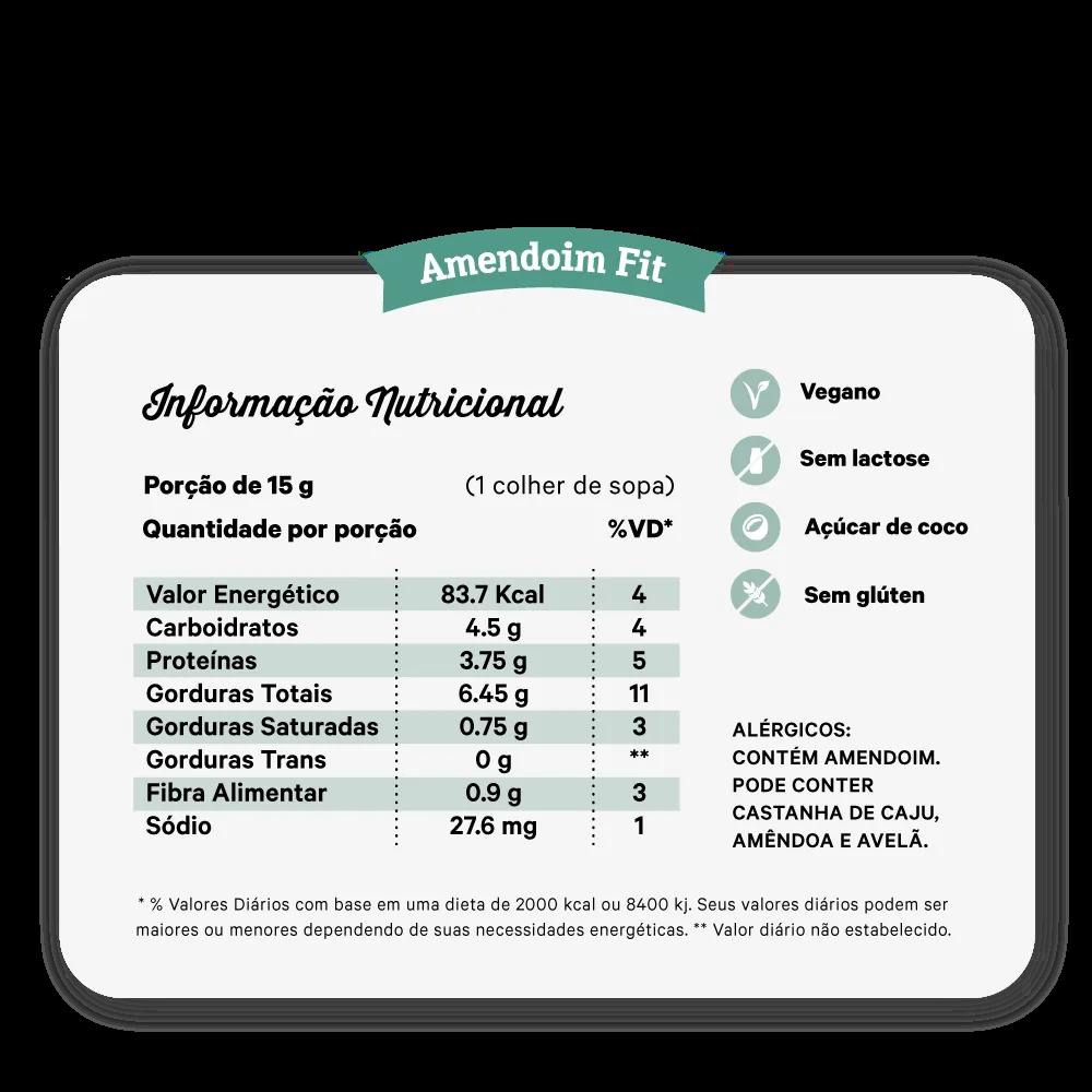 PASTA DE AMENDOIM PAÇOCA CREMOSA 450G - NUTRISSIMA