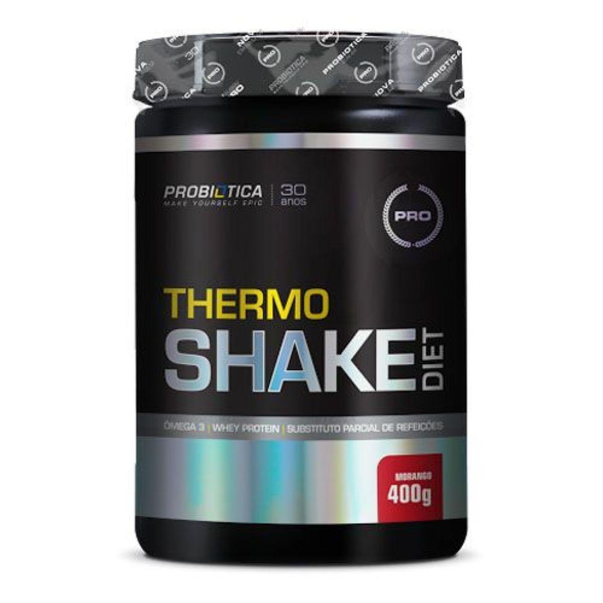 THERMOSHAKE DIET MORANGO 400G - Probiotica