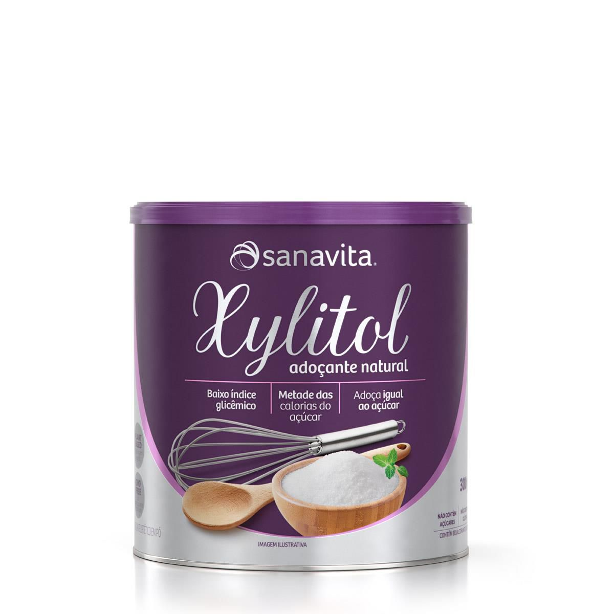 XYLITOL ADOÇANTE NATURAL 300g - Sanavita