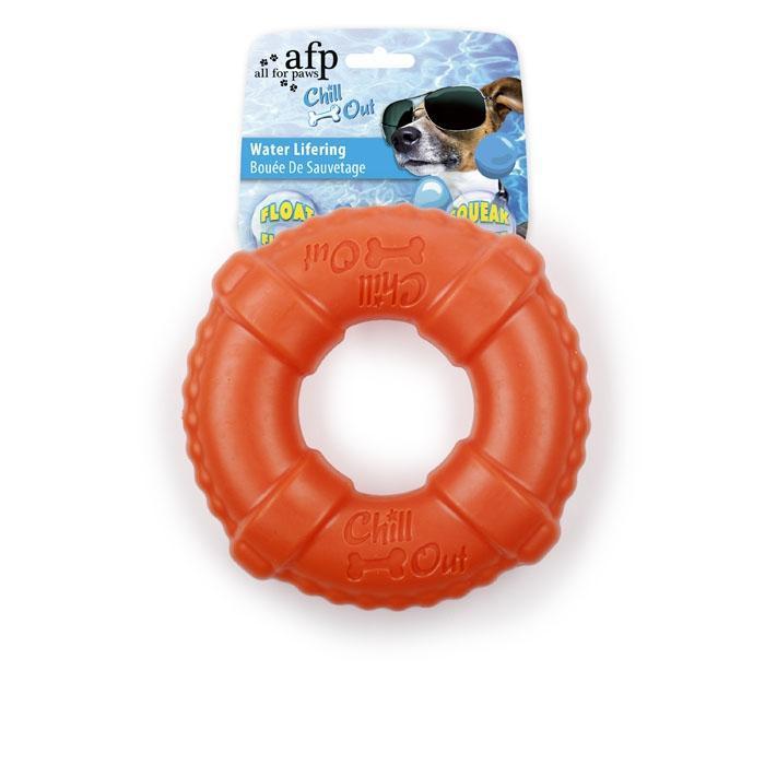 Mordedor Water Lifering Laranja  - Boutique Do Dog