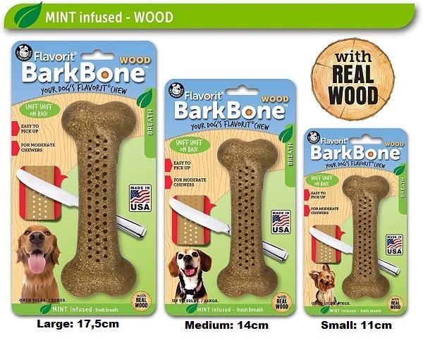 Flavorit Barkbone Com Madeira Sabor Menta  - BOUTIQUE DO DOG