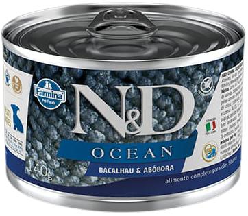 N&D Ocean Bacalhau e Abobora Puppy úmida  - BOUTIQUE DO DOG