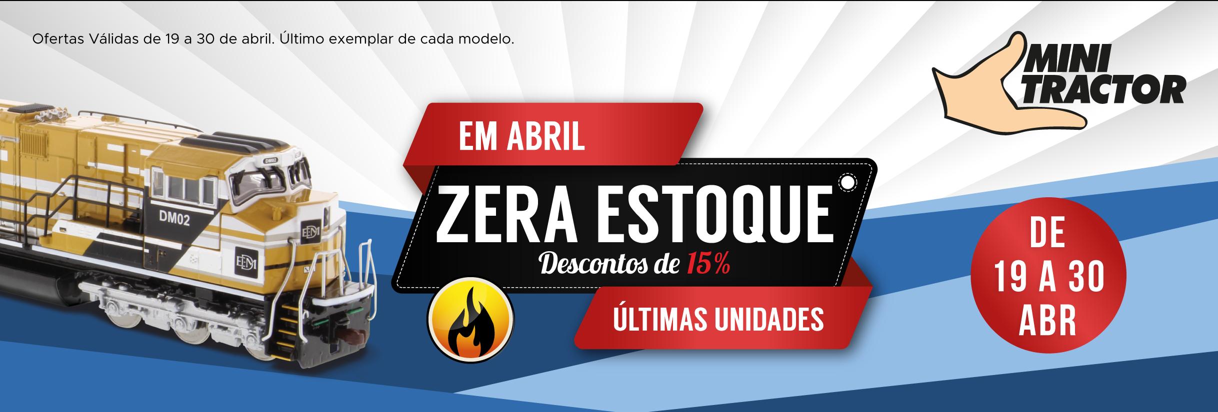 promoção zera estoque - Último exemplar de cada modelo