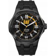 Relogio Masculino Caterpillar CAT Navigo pulseira de borracha preta ( A116121127 )