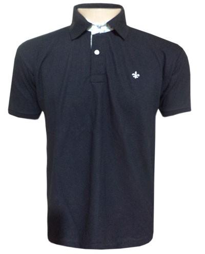 Camisa Polo Dudalina Preta - Ref 2018  - ACKIMPORTS