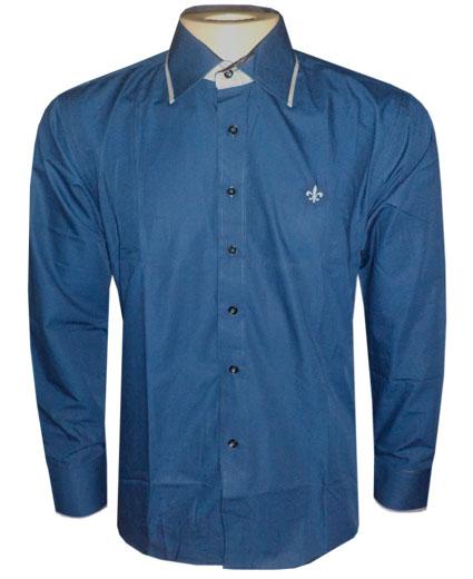 Camisa social Dudalina Azul Marinho DD1  - ACKIMPORTS