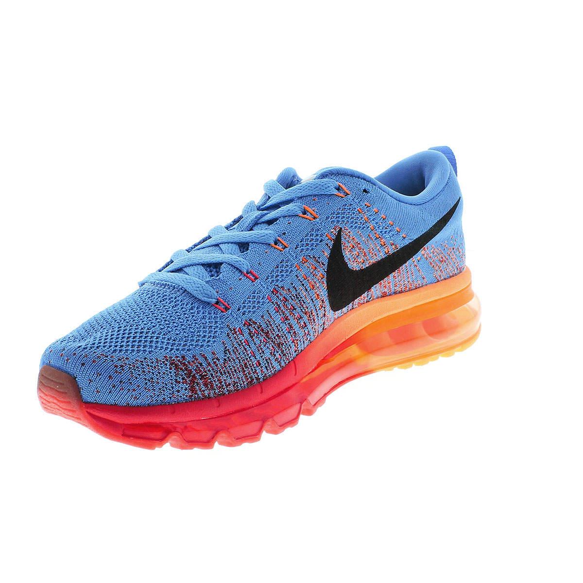 Nike Flyknit Air Max - Azul com Laranja e Vermelho  - ACKIMPORTS