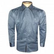 Camisa social Dudalina Chumbo e Preta DD1