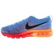 Nike Flyknit Air Max - Azul com Laranja e Vermelho