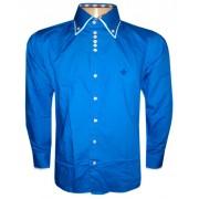 Camisa Social Dudalina Manga Longa Azul Royal - DD1