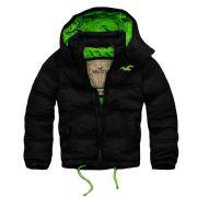 Jaqueta Hollister  preta e verde