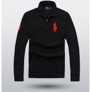 Camisa Polo Ralph Lauren Manga Longa preta