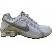 Nike Shox Junior Branco e Prata