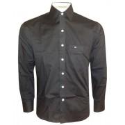 Camisa Social Tommy Hilfiger Preta TH50