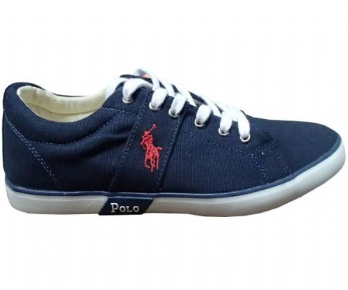 Tenis Ralph Lauren PigHall Azul Marinho  - ACKIMPORTS
