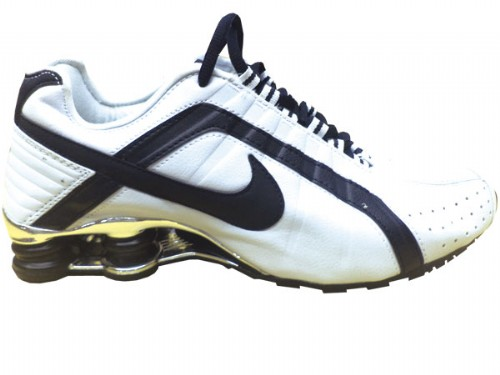 Nike Shox Junior Branco e Preto - ACKIMPORTS