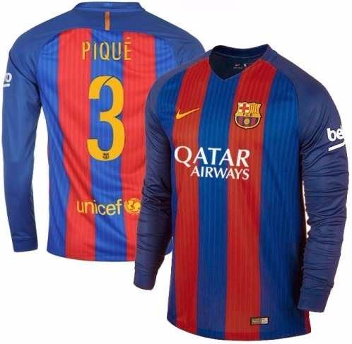8d24e64b1fdc6 Camisa Barcelona Manga Longa 2016 2017 Camisa Barcelona Masculina -  ACKIMPORTS ...