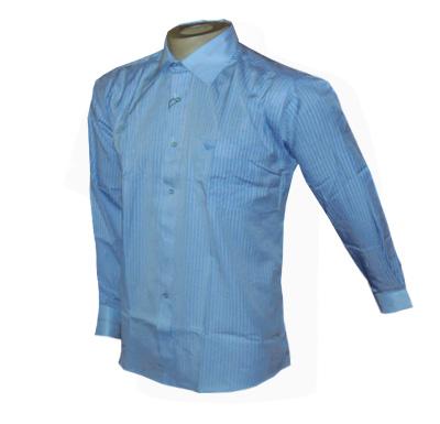 Camisa Social Armani Manga Longa Azul - Ref 007  - ACKIMPORTS