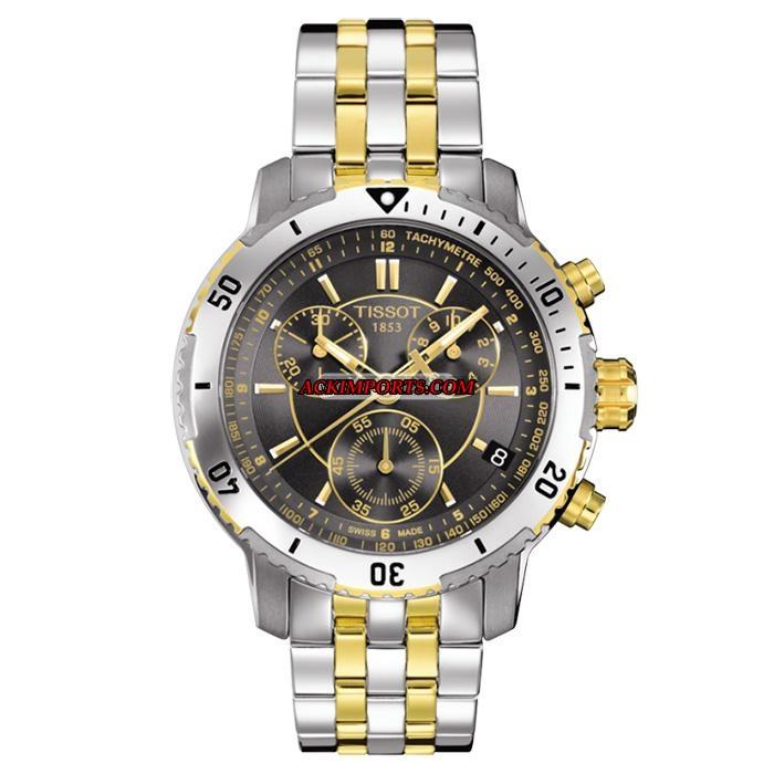 Relógio Masculino Tissot PRS 200 T067 - Preto e Dourado  - ACKIMPORTS