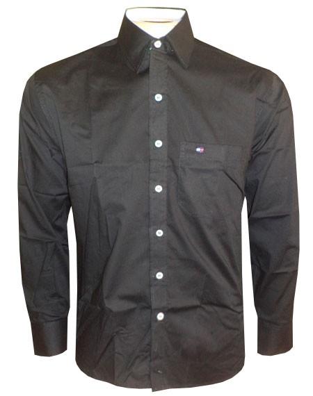 Camisa Social Tommy Hilfiger Preta TH50  - ACKIMPORTS