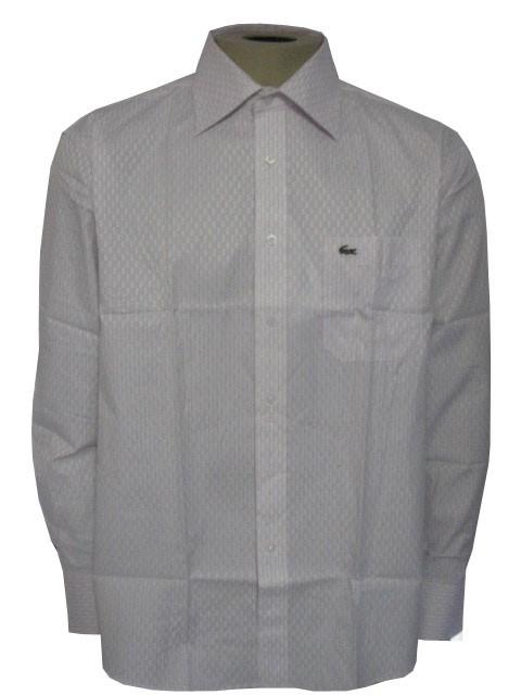 Camisa Social Manga Longa Branca Lacoste Ref. 484  - ACKIMPORTS