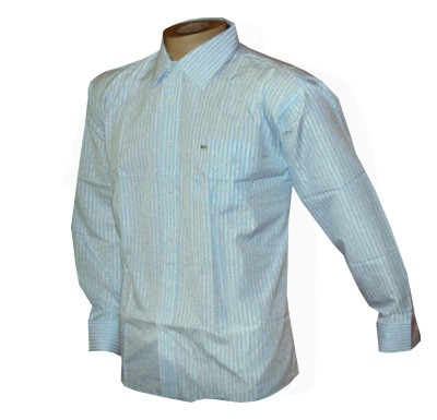 Camisa Social Lacoste Manga Longa Azul e Branca - Ref 008  - ACKIMPORTS