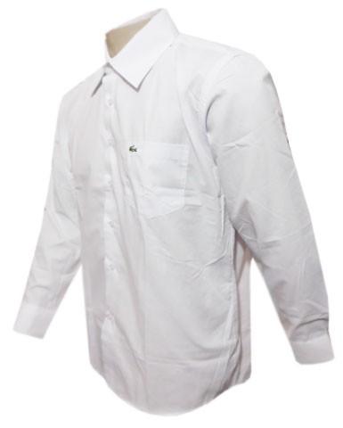 Camisa Social Lacoste Manga Longa Branca - LA50  - ACKIMPORTS