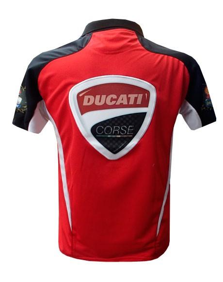 Camisa Polo Puma Ducatti Vermelha e Preta  - ACKIMPORTS