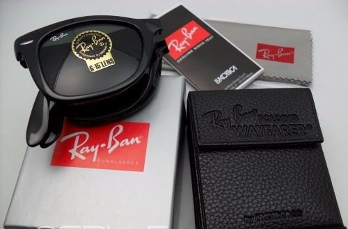 d1dcdfad80198 ... Óculos Ray Ban Wayfarer Preto Dobrável RB4105 - ackimports-Tenis ...  e935918204701d ...