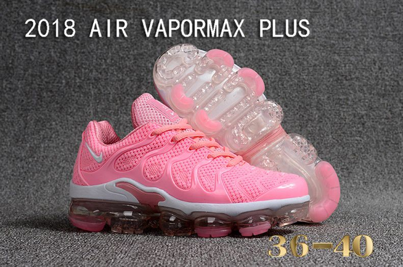 lowest price 807e9 289c6 ... new zealand tÊnis nike air vapormax plus feminino rosa claro e branco  ackimports 29f43 b8432