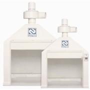 Capela de exaustão de gases para laboratório