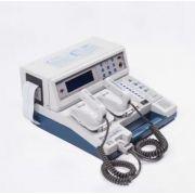 Cardioversor portátil com traçado de ECG + oximetria e bateria recarregável