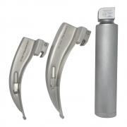 Conjunto de laringoscópio lâminas 3 e 4 curvas