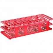 Estante para 40 tubos  20 a 21 mm de diâmetro Vermelha com 5 unidades