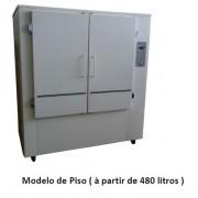 Estufa para cura de vernizes com abertura superior, capacidade 640 litros