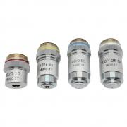 Objetiva acromática para microscópio bioloógico