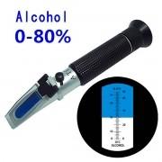 Refratômetro para Álcool em Gel  Faixa 0 - 80 v/v