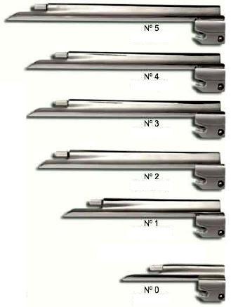 Lamina para laringoscópio reta iluminação convencional