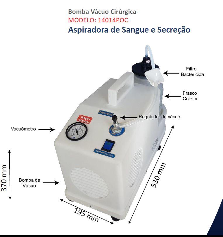 Aspirador cirúrgico 3,2 litros 14014POC